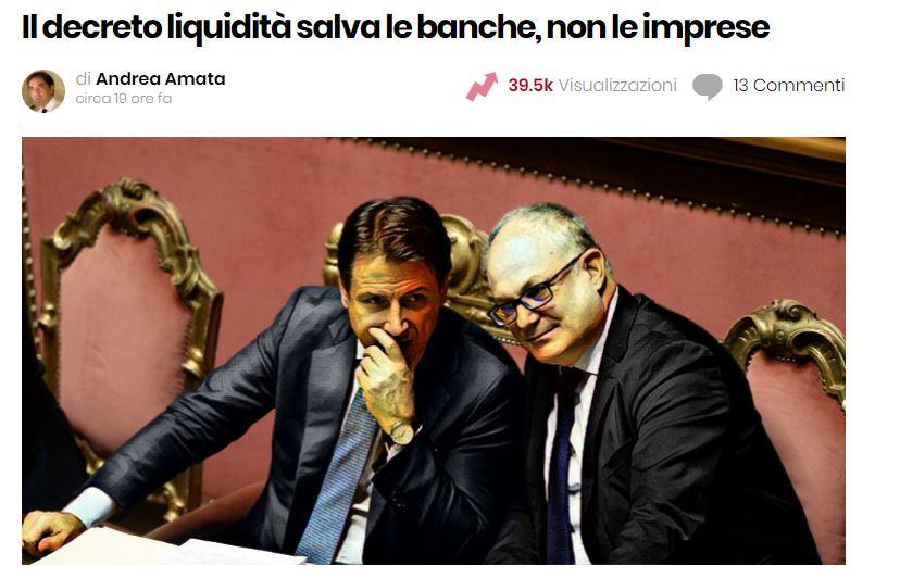 decreto liquidità salva banche imprese