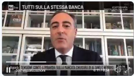 Giulio Gallera ammette davanti ai giudici che la zona rossa