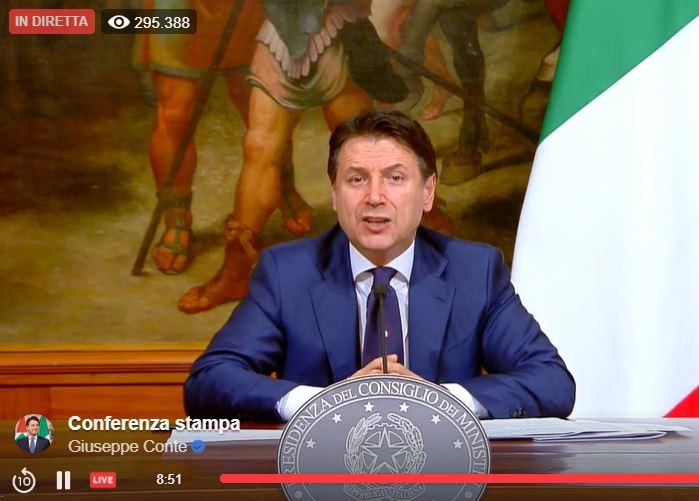 Conte chiude l'Italia fino al 3 maggio