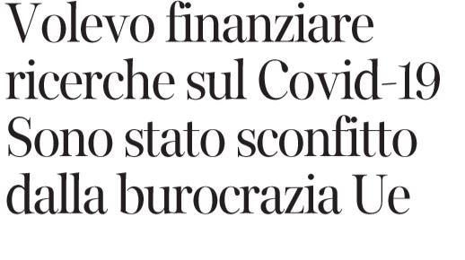 La vera storia delle dimissioni di Mauro Ferrari dal Consigl
