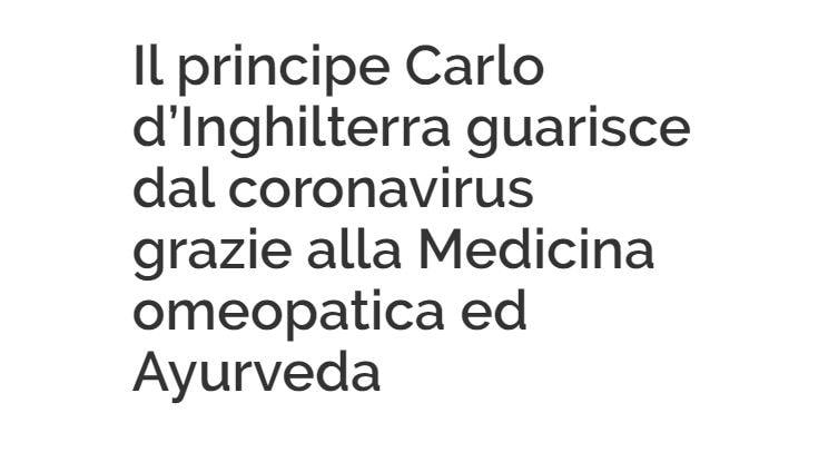 principe carlo coronavirus omeopatia