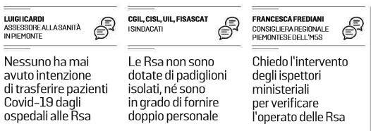 La delibera del Piemonte che manda i malati di COVID 19 a cu