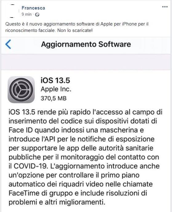 aggiornamento software apple iphone