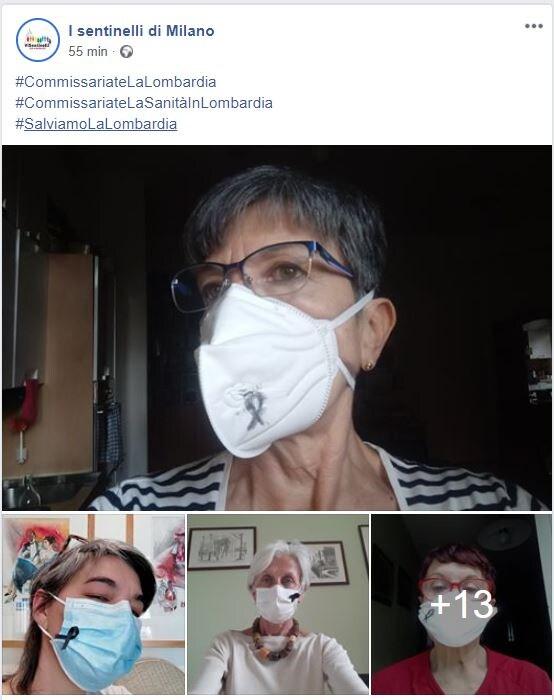 commissariate la lombardia flashmob mascherine 1