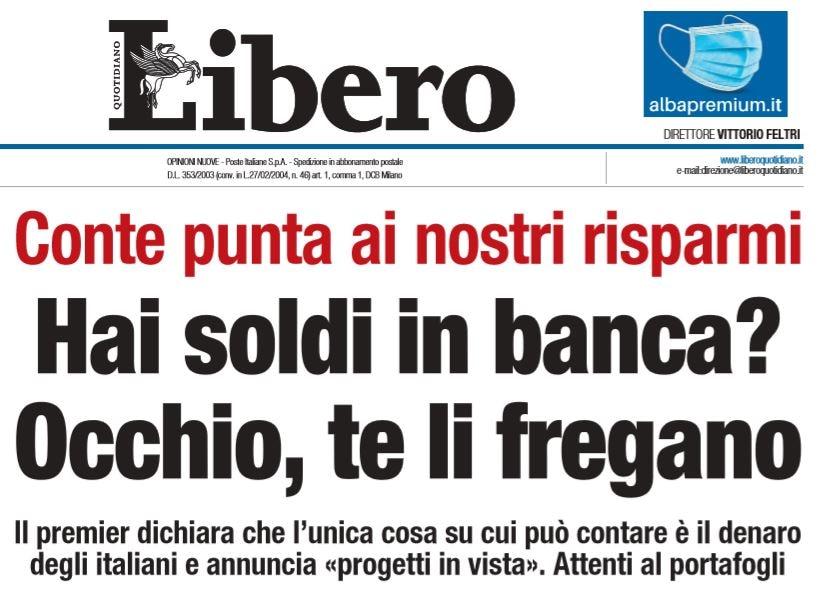 conte conti correnti risparmi italiani