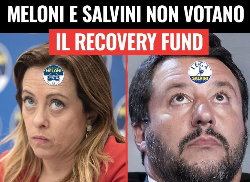 lega fratelli d'italia recovery fund 1