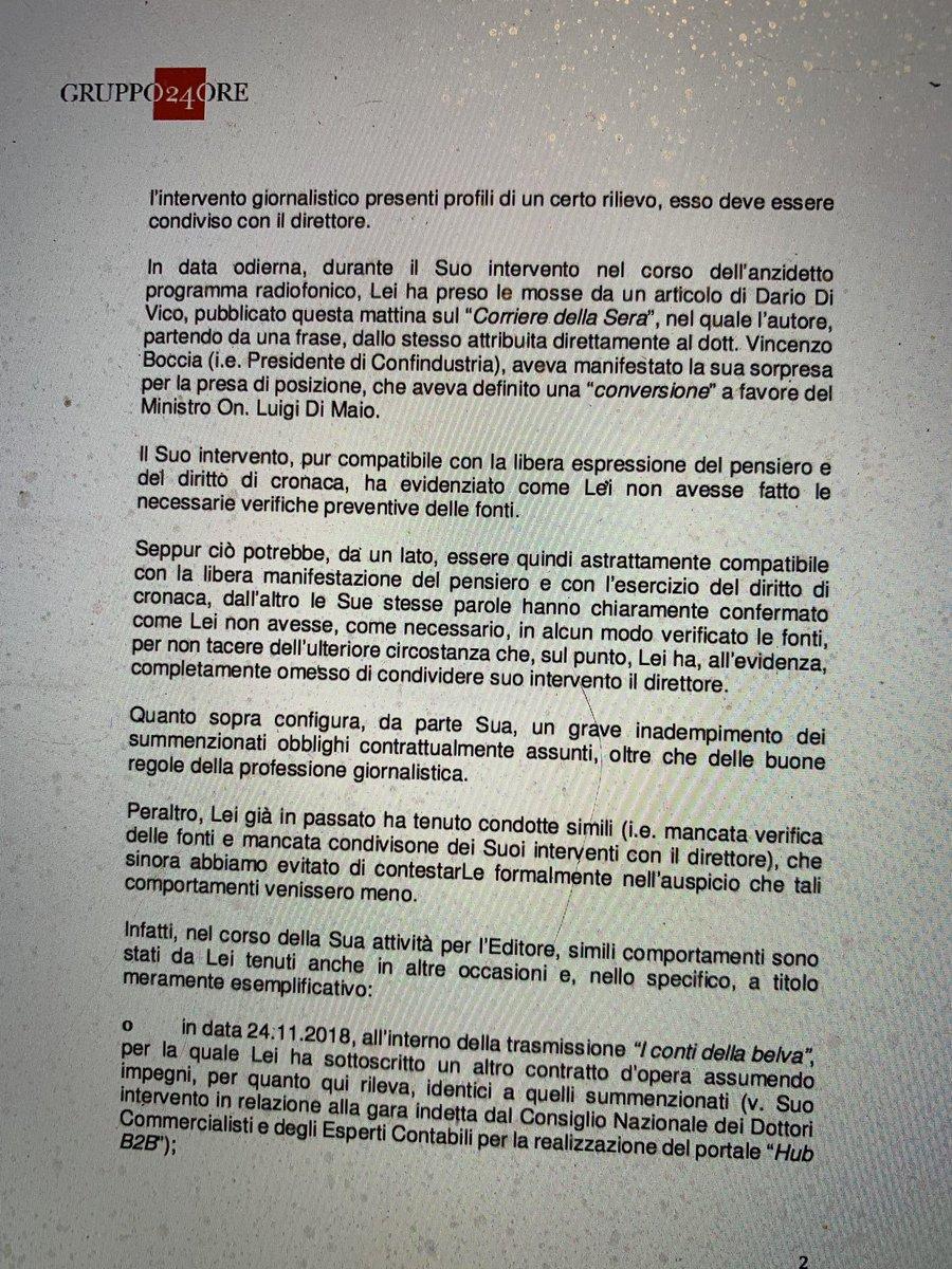 lettera contestazione oscar giannino radio 24 1