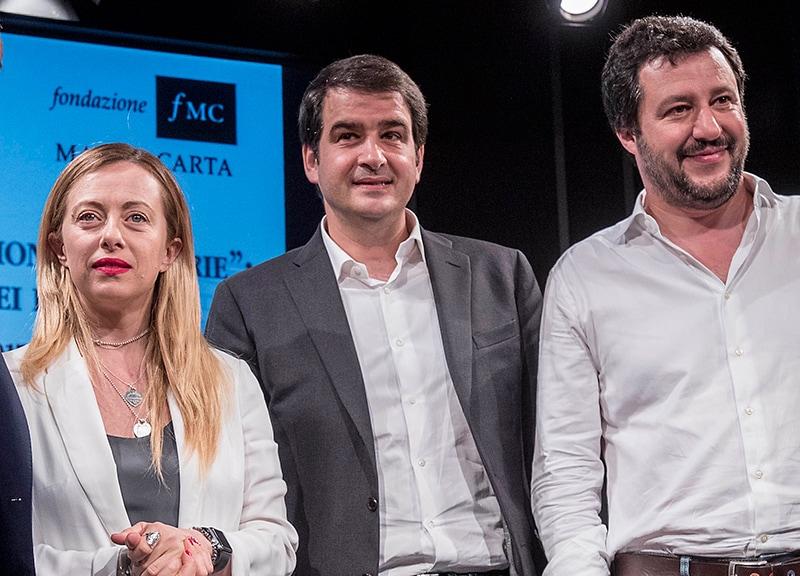 Giorgia Meloni, Raffaele Fitto, Matteo Salvini