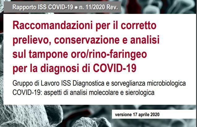 raccomandazioni per il corretto prelievo analisi test del tampone covid-19 1