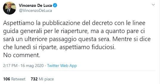 vincenzo de luca dpcm