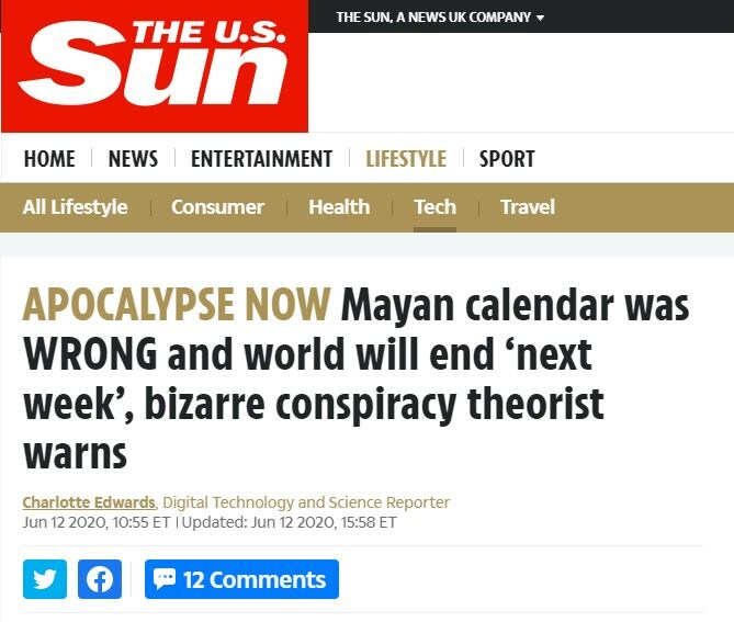 21 giugno 2020 calendario maya apocalisse