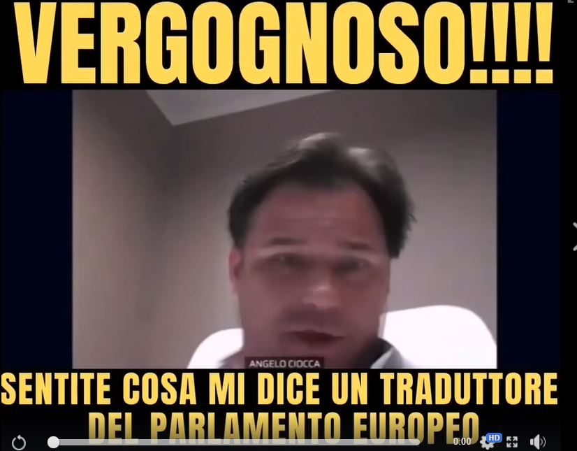 Angelo Ciocca: il video dell'europarlamentare leghista chiam