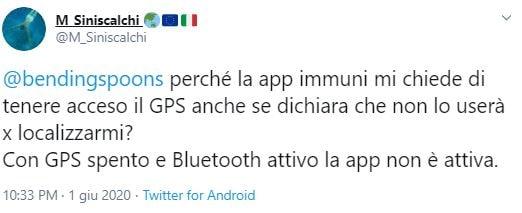 app immuni gps bluetooth 3
