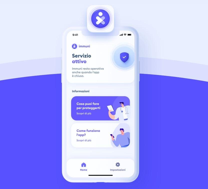 App IMMUNI: il download e l'aggiornamento di iOS e Android