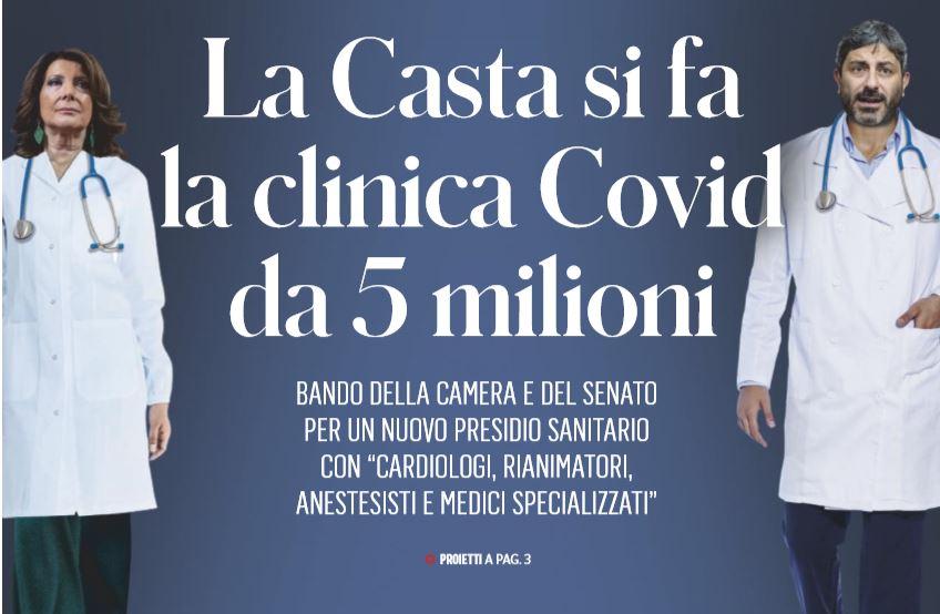 La clinica anti COVID 19 di Camera e Senato
