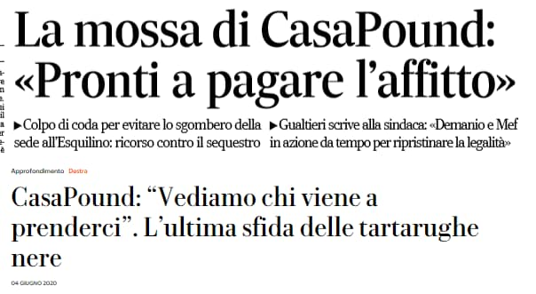 casapound affitto