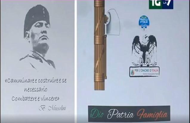 francesco acquaroli cena fascista acquasanta terme