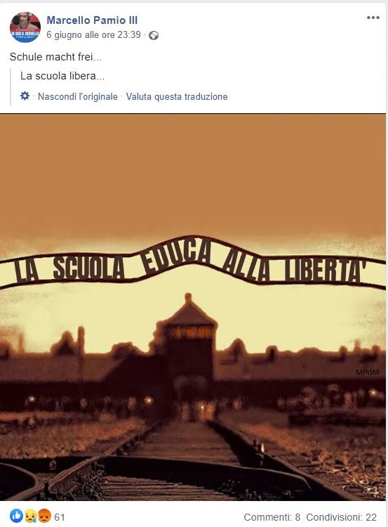 marcello pamio scuola auschwitz