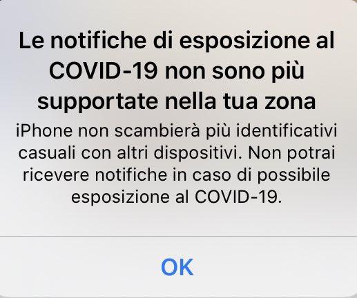 notifiche esposizione covid-19 supportate zona