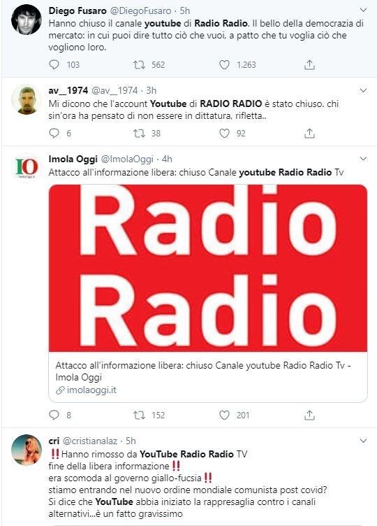 radio radio canale youtube 1