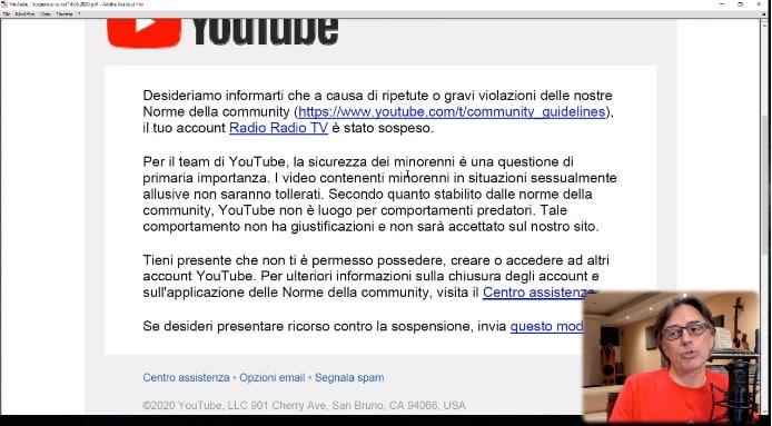 radio radio chiuso canale youtube motivazioni