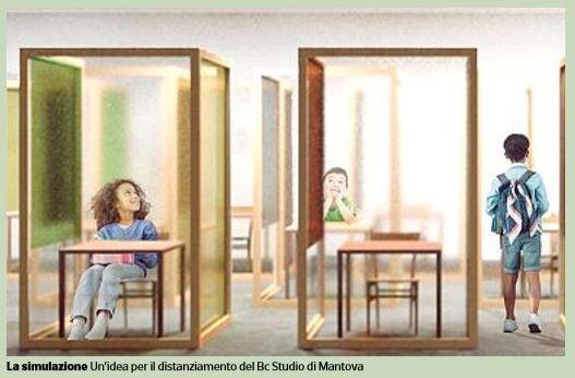 scuola settembre plexiglass visiere