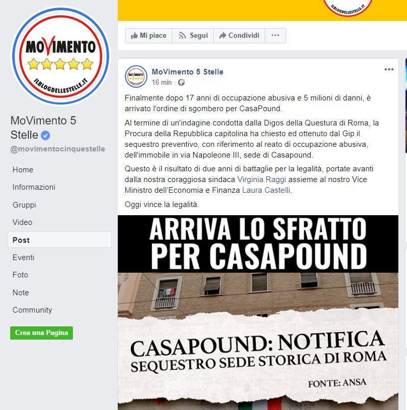 Casapound Iannone Antonini Stefano indagati occupazione abusiva istigazione odio razziale