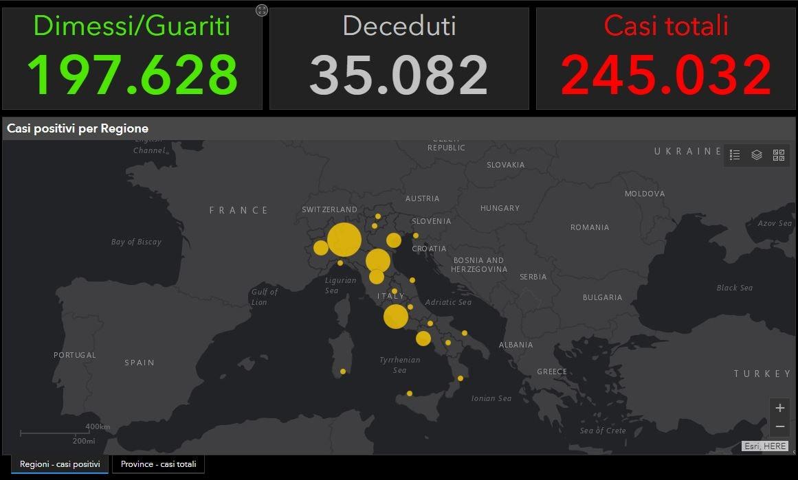 Il bollettino del Coronavirus in Italia oggi