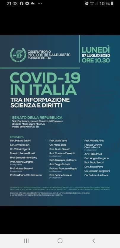 covid-19 italia senato 1