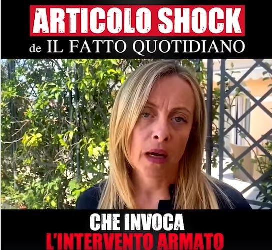 Giorgia Meloni, il Fatto e lo schioppo per sparare su Fratel