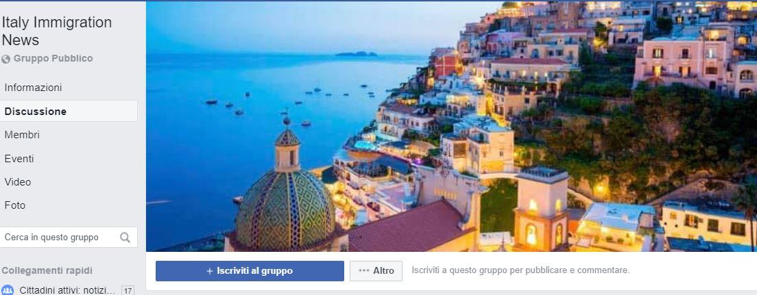 Italy Immigration News: un gruppo facebook organizza gli sba