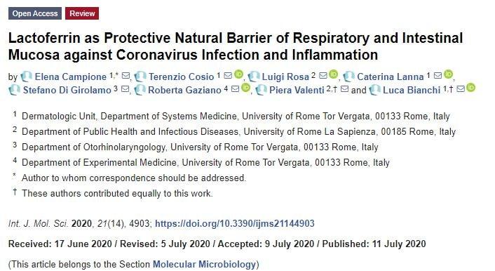 lattoferrina covid-19 coronavirus tg3 1