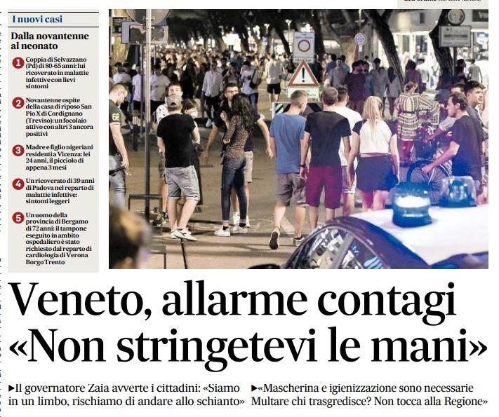 Ma lo Zaia preoccupato per i contagi in Veneto è lo stesso che ha ...