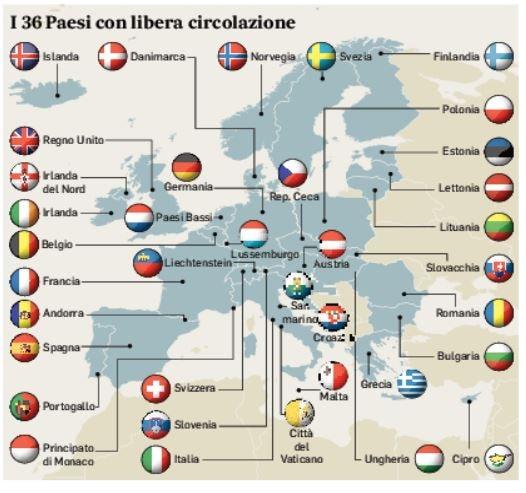 Veneto: i 36 paesi con libera circolazione senza quarantena