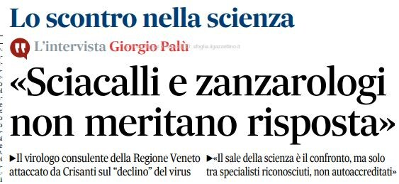 zaia crisanti giorgio palù zanzarologi