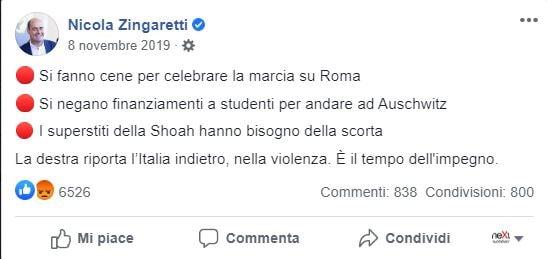 zingaretti acquaroli marcia su roma 1
