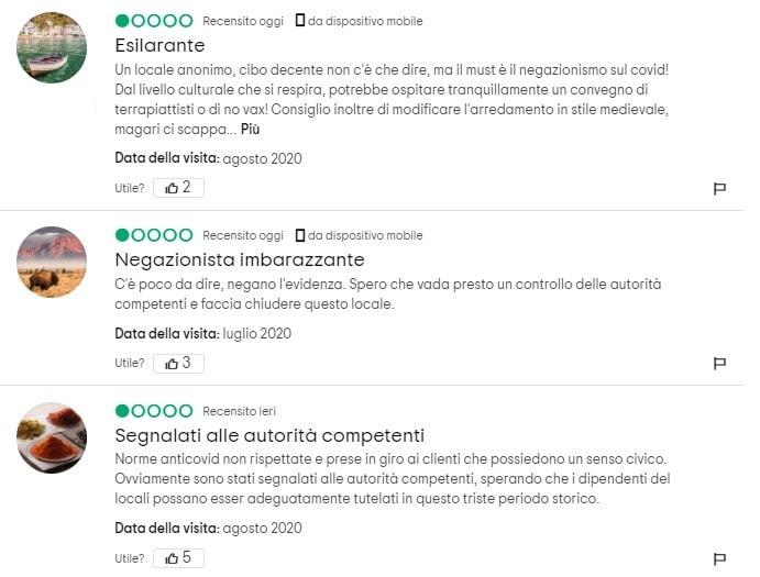 celtic house ristorante negazionista coronavirus magenta 3