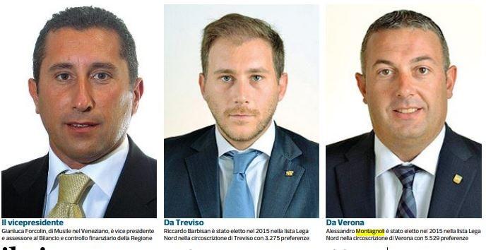 Forcolin, Barbisan e Montagnoli: i tre consiglieri veneti e il bonus 600 euro partite IVA