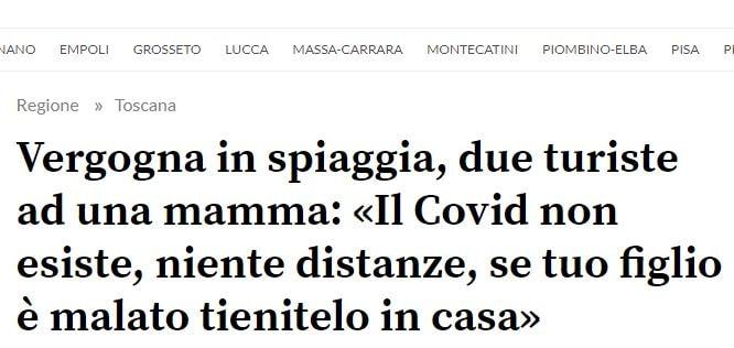 «COVID 19 non esiste. Se suo figlio è malato lo tenga chiuso in casa»