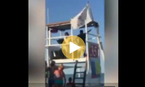 punta canna video faccetta nera saluti romani stabilimento balneare chioggia