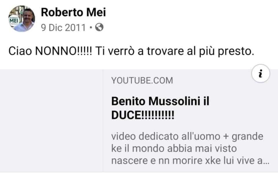 Roberto Mei: da Nonno Benito all'appoggio di Matteo Renzi