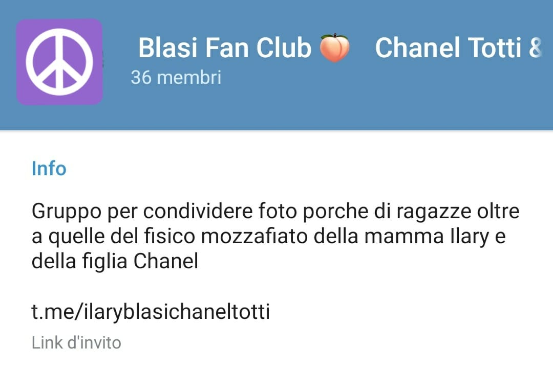 telegram chanel totti blasi