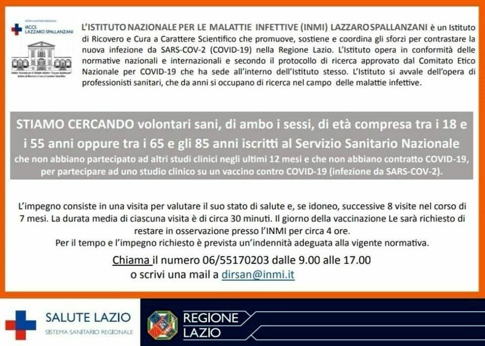 L'indennità da 700 euro per testare il vaccino per il Coronavirus