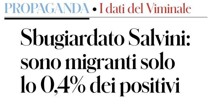 viminale salvini migranti infetti