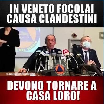 Per Salvini  senza la caserma Serena di Treviso non ci sarebbe stato un focolaio: ma quando era ministro non l'ha chiusa
