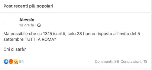 5 settembre manifestazione italia libera roma