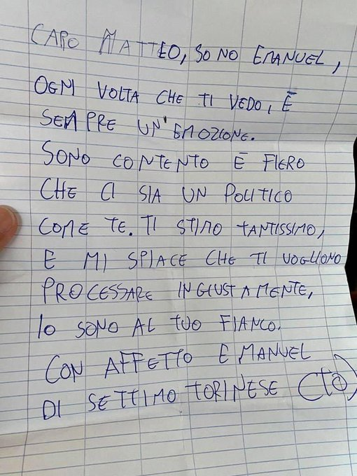 salvini lettera fake