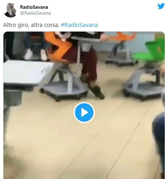 autoscontro banchi a rotelle video 4