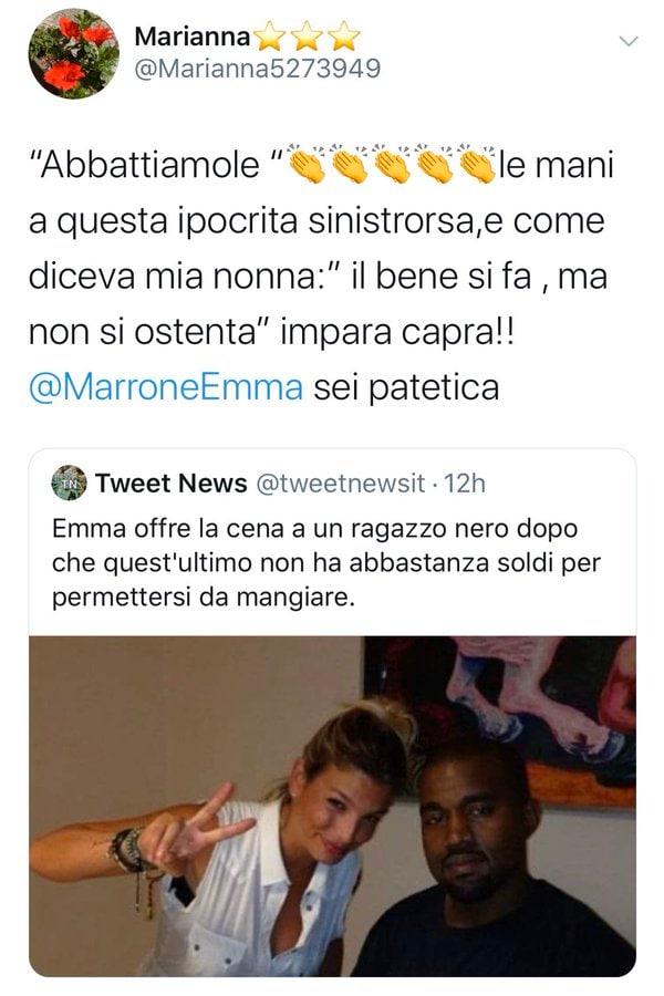 emma marrone cena ragazzo nero kanye west fake news 1