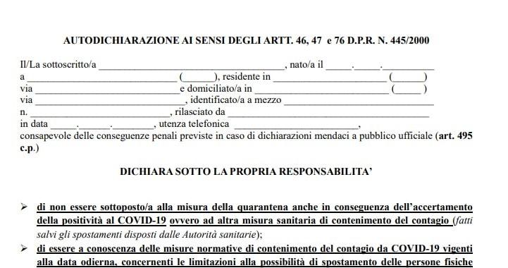 Autocertificazione Lazio Ottobre 2020 Il Modulo Da Scaricare
